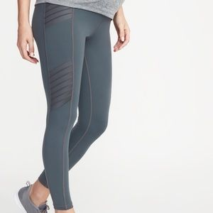 Old Navy Maternity Moto Compression Gray Leggings